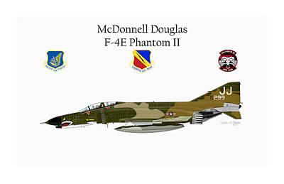Digital Art - Mcdonnell Douglas F-4e by Arthur Eggers