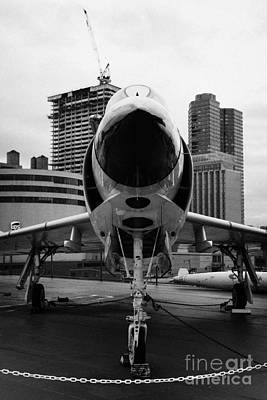 Mcdonnell F3h 2n F3b F3 Demon On The Flight Deck On Display At The Intrepid Sea Air Space Museum Art Print by Joe Fox