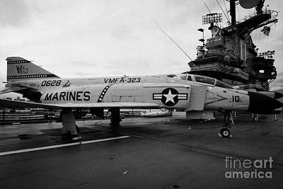 Mcdonnell F4 F-4n Phantom On Display On The Flight Deck At The Intrepid Sea Air Space Museum Art Print by Joe Fox