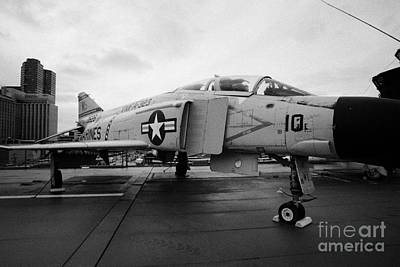 Mcdonnell F4n F4 Phantom On Display On The Flight Deck At The Intrepid Sea Air Space Museum Art Print by Joe Fox