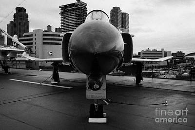 Mcdonnell F4n Phantom On Display On The Flight Deck Of Uss Intrepid New York F4 Art Print by Joe Fox