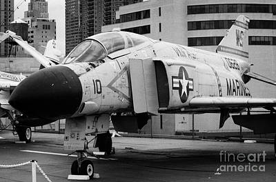 Mcdonnell F4n Phantom On The Flight Deck Uss Intrepid F4 Art Print by Joe Fox