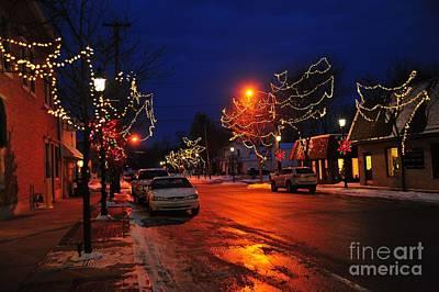 Clare Michigan Photograph - Clare Michigan Christmas by Terri Gostola
