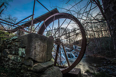 Photograph - Mcgalliard Falls Water Wheel by Randy Scherkenbach