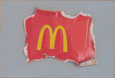 Mcdonalds Drawing - Mcgarbage 2.0 by Liam Harper