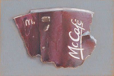 Mcdonalds Drawing - Mcgarbage by Liam Harper