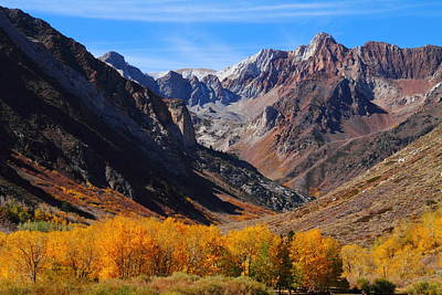 Mcgee Canyon Fall Colors In The Eastern Sierras Art Print by Jetson Nguyen