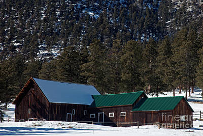 Photograph - Mcgraw Ranch Barn In Winter by Fred Stearns