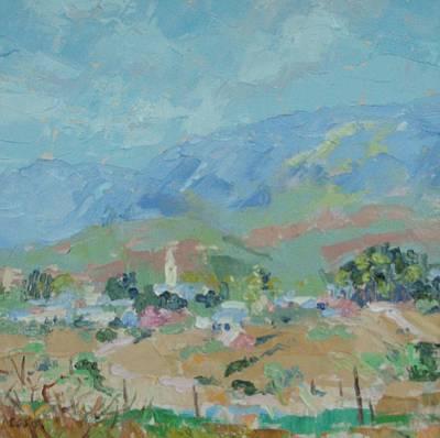 Winelands Painting - Mcgregor In The Overberg by Elinor Fletcher