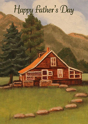 Painting - Mcgregor Ranch House Card by Ruth Soller