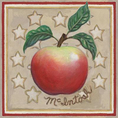 Mcintosh Apple Two Art Print by Linda Mears