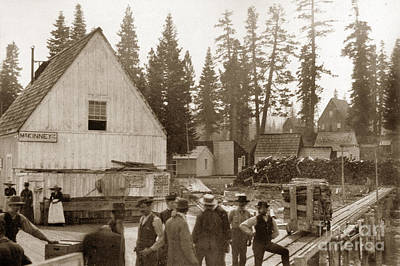 Photograph - Mckinneys Landing Lake Tahoe California Circa 1890 by California Views Archives Mr Pat Hathaway Archives