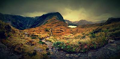 Track Photograph - Mckinnon's Pass Panorama by Freya Doney