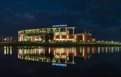 Photograph - Mclane Stadium At Night by Todd Aaron