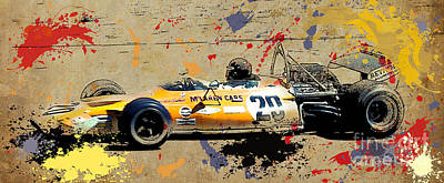 1971 Digital Art - Mclaren 1971 Formula 1 by Pablo Franchi