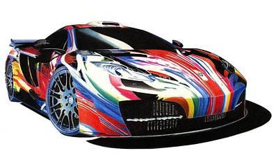 Mclaren Art Car Art Print by Lyle Brown