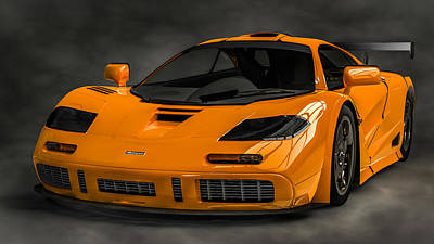 Digital Art - Mclaren F1 Lm by Louis Ferreira