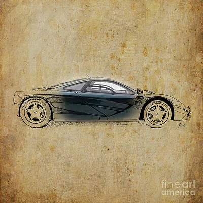 Sports Digital Art - Mc Laren F1 by Pablo Franchi