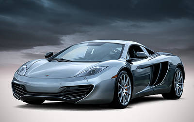 Digital Art - Mclaren Mp4 12c by Douglas Pittman