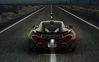 Cabin Wall Photograph - Mclaren P1 2014 by Movie Poster Prints