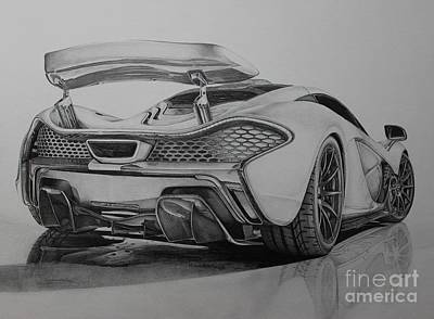 Concept Drawing - Mclaren P1 by Gary Reising