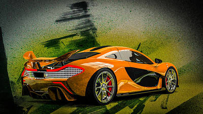 Digital Art - Mclaren P1 by Louis Ferreira