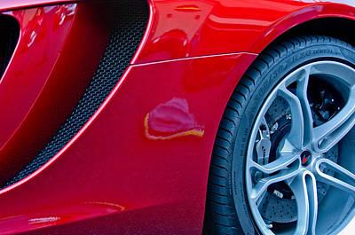 Professional Racing Photograph - Mclaren Wheel by Jill Reger