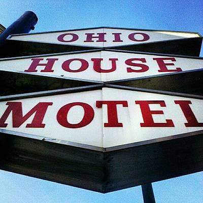Red Wall Art - Photograph - Mcm Motel by Jill Tuinier