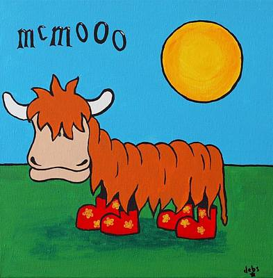 Painting - Mcmooo by Sheep McTavish