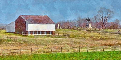 Digital Art - Mcpherson's Barn At Gettysburg National Military Park by Digital Photographic Arts