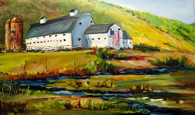Mcpolin Park City Utah Barn Art Print