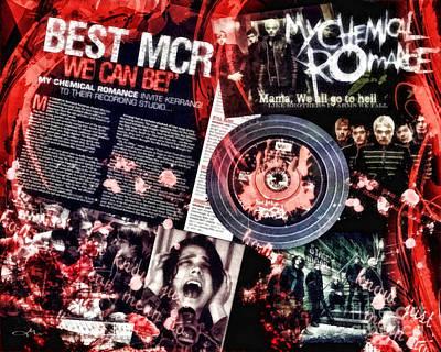 Punk Mixed Media - MCR by Mo T
