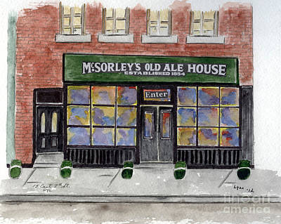 Greenwich Village Painting - Mcsorley's Old Ale House by AFineLyne