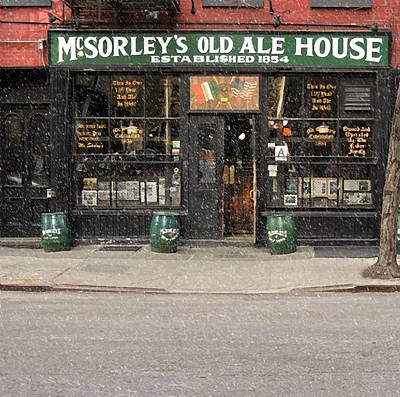 Mcsorley's Old Ale House During A Snow Storm Art Print