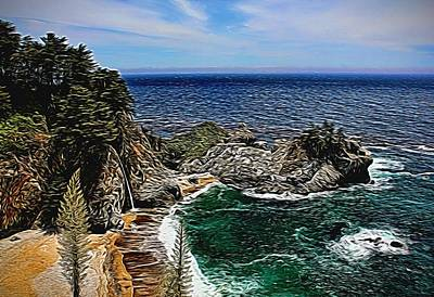 Photograph - Mcway Cove Painted by Judy Vincent