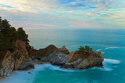 Mcway Falls At Sunrise Art Print by Jonathan Nguyen