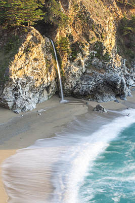 Big Sur Photograph - Mcway Falls At Julia Pfeiffer Burns State Park by Priya Ghose