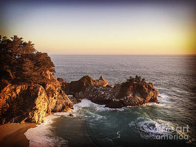 Mcway Falls California Art Print by Colin and Linda McKie