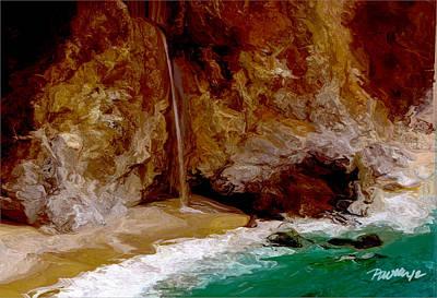 Digital Art - Mcway Falls II - Big Sur Ca by Jim Pavelle