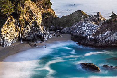 Landscape Photograph - Mcway Falls In Big Sur California by Priya Ghose