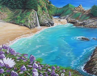 Painting - Mcway Falls by Jane Girardot