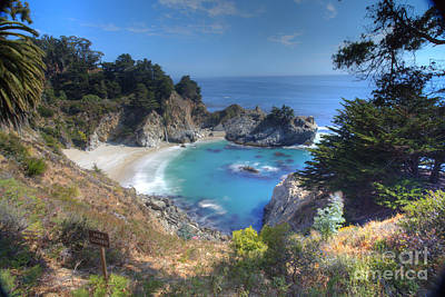 Pfeiffer Beach Photograph - Mcway Falls by Marco Crupi