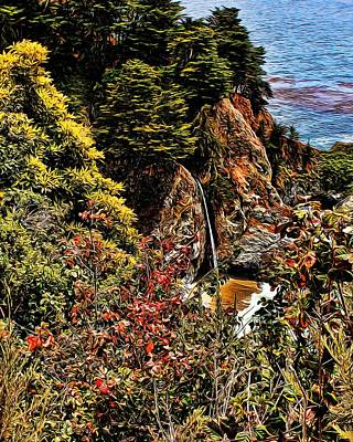 Photograph - Mcway Falls Painted by Judy Vincent