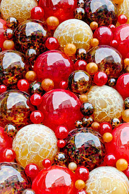 Maltese Photograph - Mdina Spheres Blown Glass Balls In Valetta Malta by Andy Smy