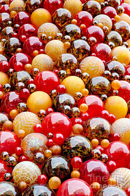 Maltese Photograph - Mdina Wall Glass Spheres Blown Artwork In Valetta Malta by Andy Smy