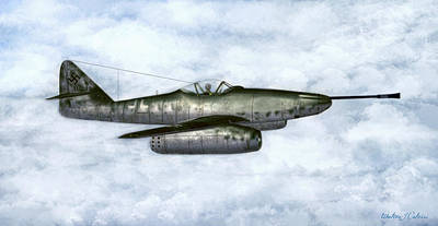Digital Art - Me-262a-1a/u4 Pulkzerstorer by Walter Colvin