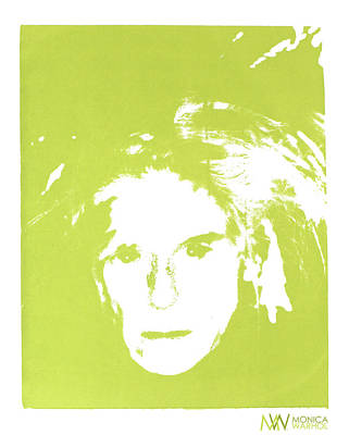 Me And Andy Art Print by Monica Warhol