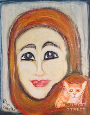 Painting - Me And Kitkat by Rachel Carmichael