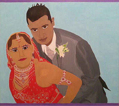 Painting - Me And My Hubby by Bav Patel