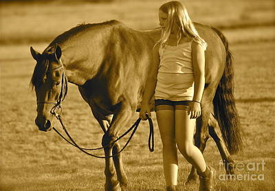 Art Print featuring the photograph Me And My Pony by Barbara Dudley